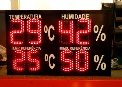 leitura de temperatura e humidade